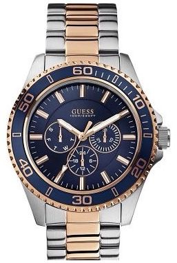 Guess Chaser Mens Day & Date, 24 hour Watch W0172G3