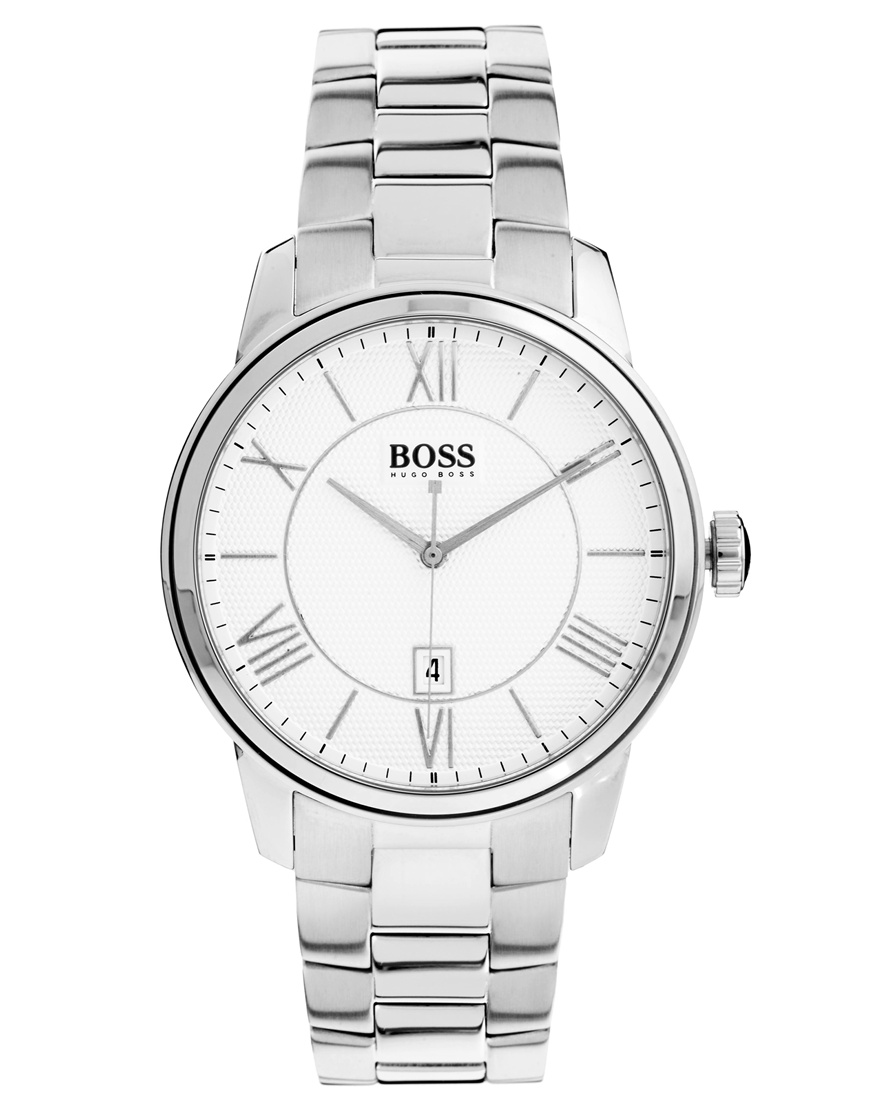 Hugo Boss Gents Watch XL Analogue Display and Silver Stainless Steel Classic ROUND 1512976