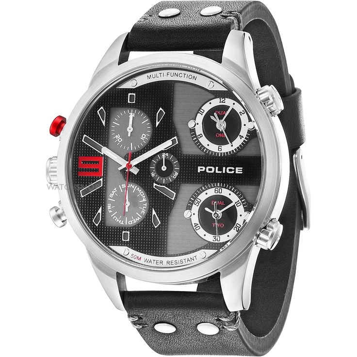 8 most popular police watches under £100 for men the watch blog police copperhead men s quartz watch black dial chronograph display and black leather strap 14374js