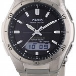CASIO MEN'S WAVECEPTOR TITANIUM ALARM CHRONOGRAPH WATCH WVA-M640TD-1AER