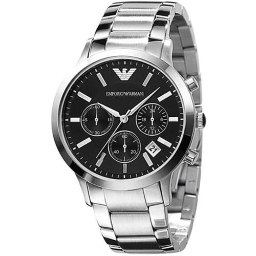 ar2434 mens armani stainless steel bracelet watch review. Black Bedroom Furniture Sets. Home Design Ideas