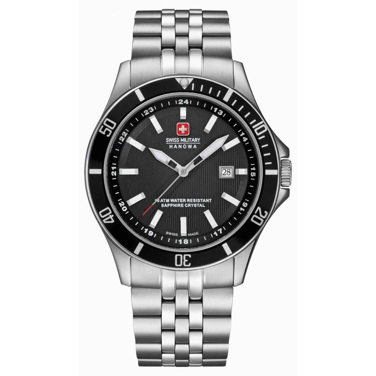 Swiss Military Hanowa Men's Quartz Watch 06-5161.7.04.007 06-5161.7.04.007 with Metal Strap
