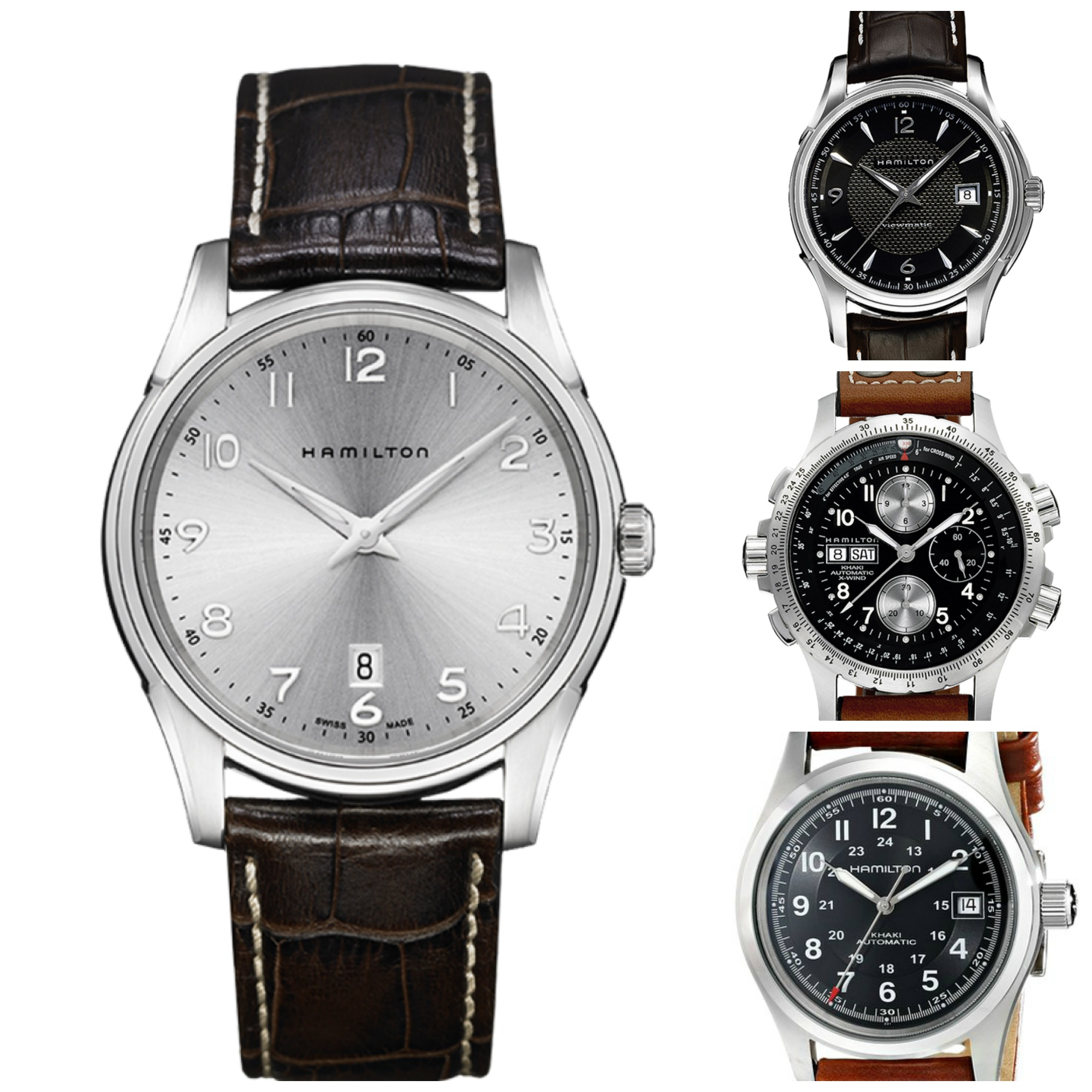 Top 5 Most Popular Hamilton Leather Strap Watches For Men ...