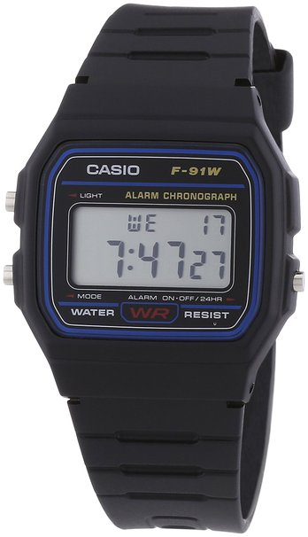 Casio F-91W Digital Watch with Resin Strap