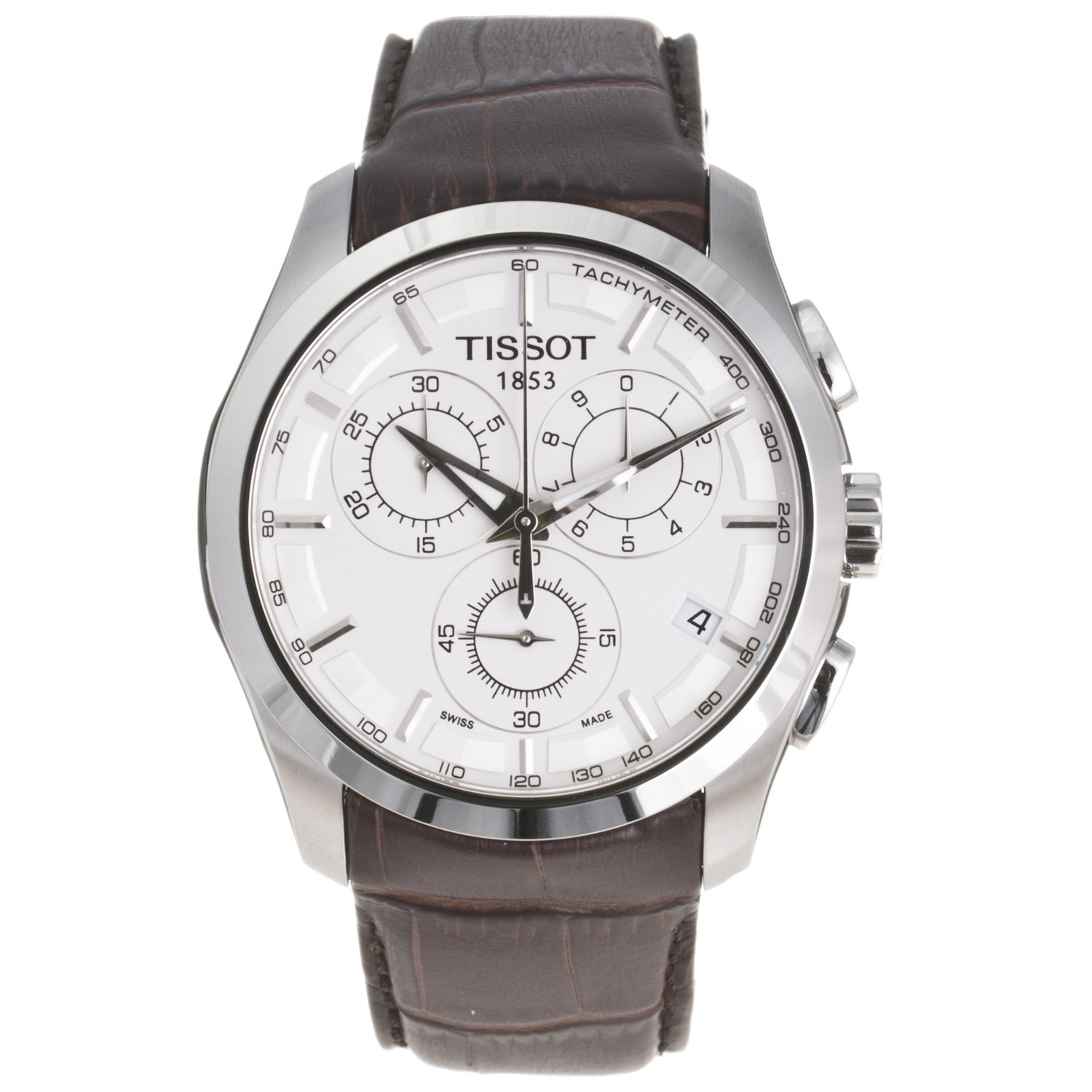 Tissot Men's Couturier Watch T0356171603100 Leather Chrono