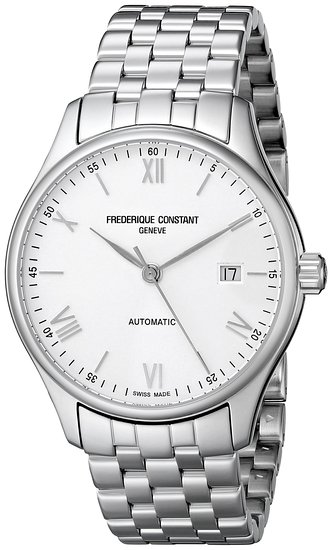 Frederique Constant FC-303WN5B6B 40mm Automatic Silver Steel Bracelet & Case Anti-Reflective Sapphire Men's Watch