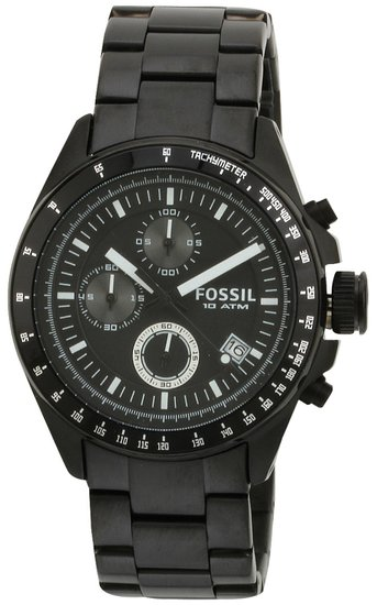 Fossil Mens Watch Decker CH2601 with Black Dial and Black IP Bracelet