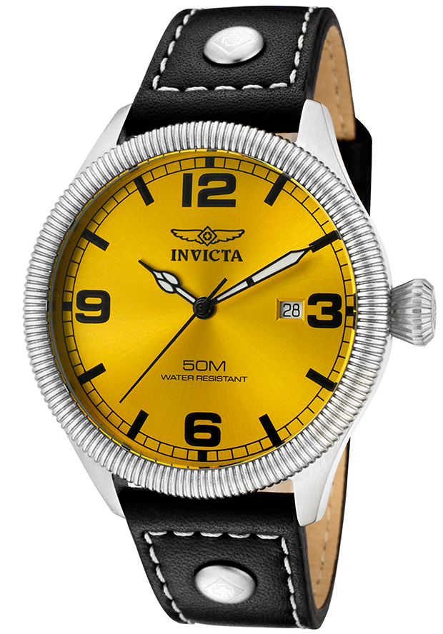 12 best selling most popular invicta watches leather straps invicta men s yellow dial watch vintage leather strap 1462 vintage