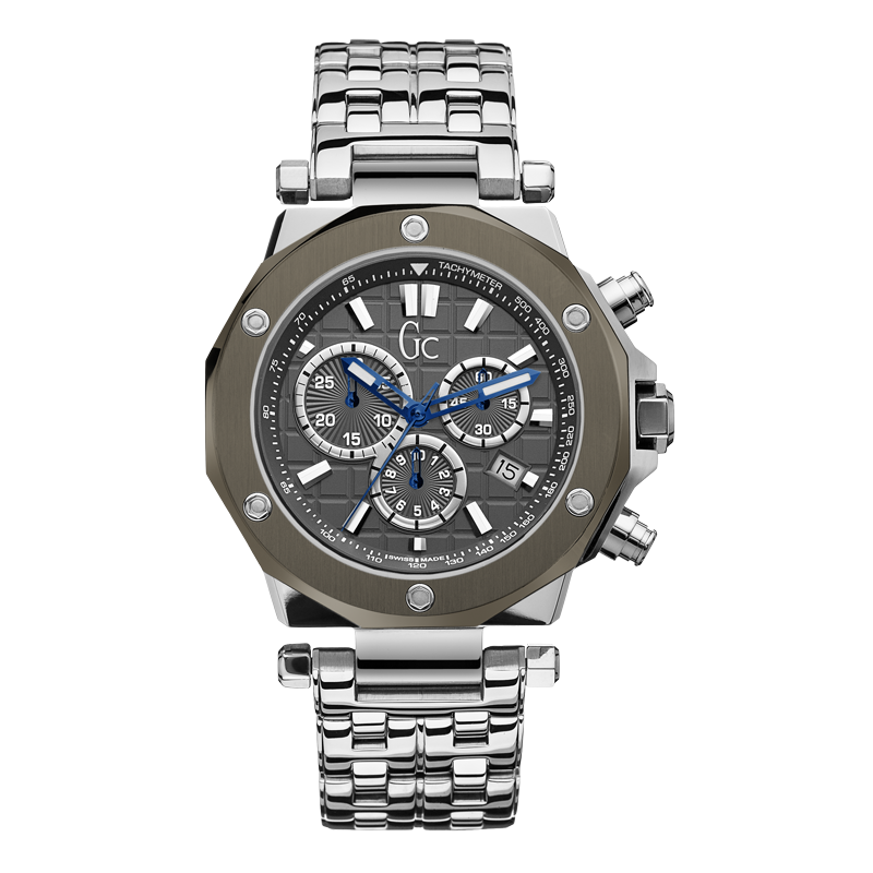 Guess Collection X72009G5S 40mm Silver Steel Bracelet & Case Anti-Reflective Sapphire Men's Watch