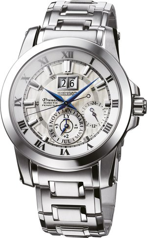 Seiko Premier Kinetic Perpetual Calendar Watch SNP091P1