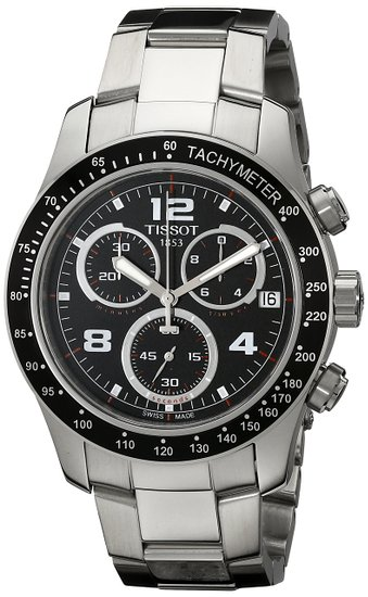 Tissot V8 T0394171105702 42 Silver Steel Bracelet & Case Men's Watch
