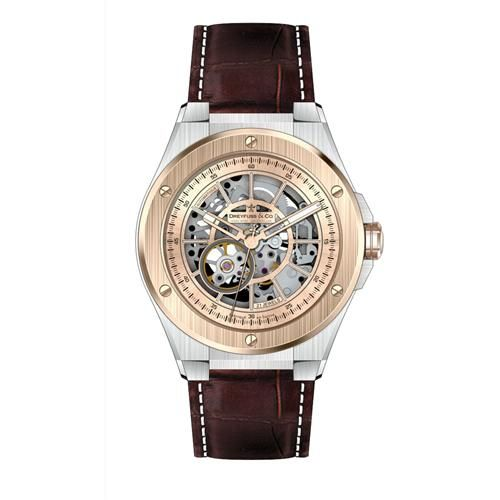 Dreyfuss 1953 DGS00081/06 40mm Automatic Stainless Steel Case Brown Calfskin Anti-Reflective Sapphire Men's Watch