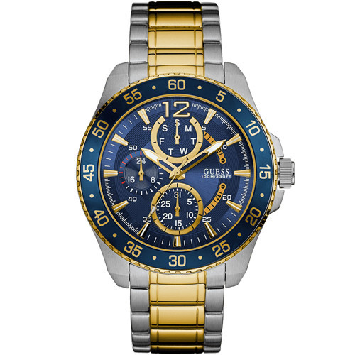 top 9 most popular guess watches under £200 best buy for men guess gent s jet blue dial two tone watch w0797g1