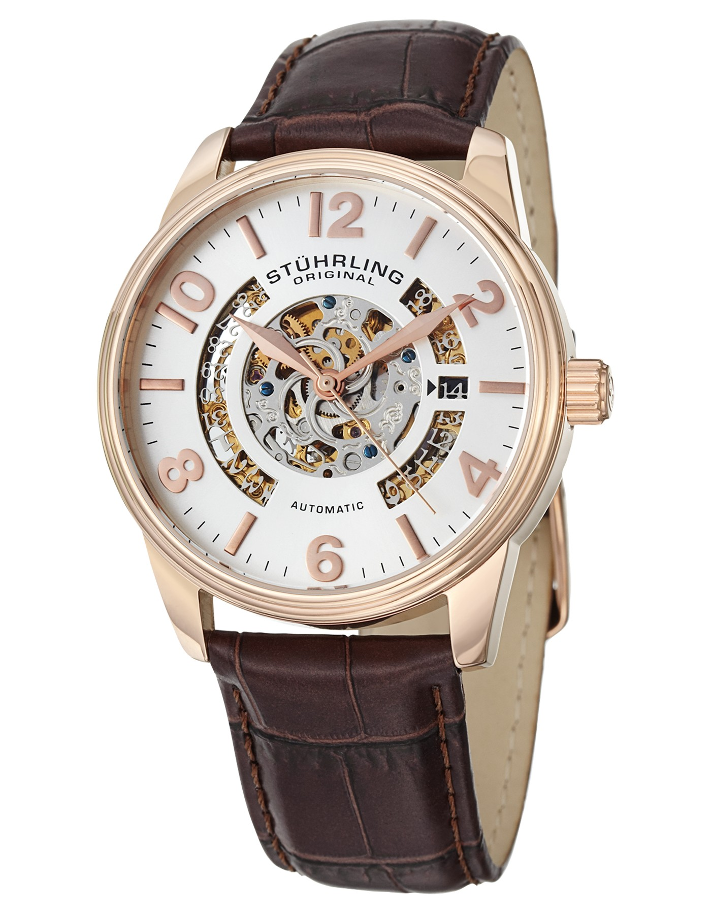 top 10 best mechanical watches for men under £200 most popular stuhrling original legacy men s automatic watch silver dial analogue display and brown leather strap 649 02