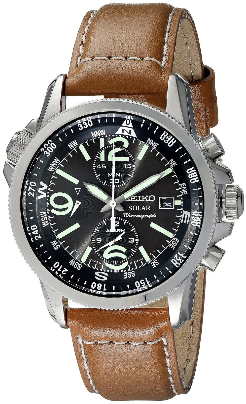 4d624e6ff Shop for Sportura Chronograph Black Dial Black Men's Watch by Seiko at  JOMASHOP for only $264.07! WARRANTY or GUARANTEE available with every item.