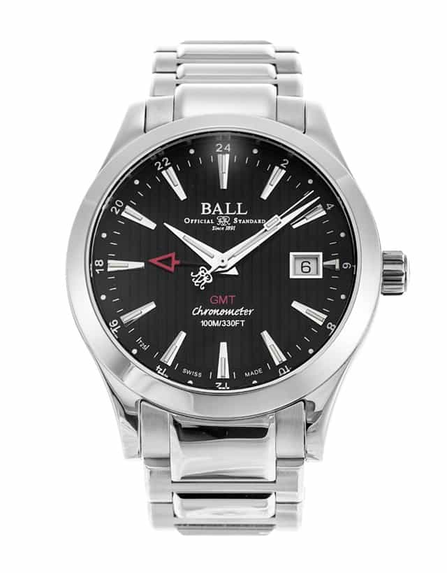 BALL MEN'S ENGINEER II RED LABEL CHRONOMETER GMT AUTOMATIC WATCH