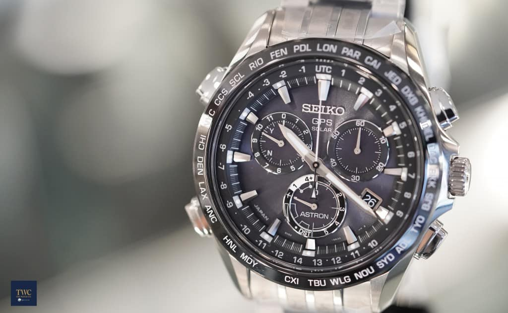 Seiko gps chronograph watch