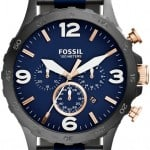 Fossil Chronograph Watch with Blue detailing and rose gold finishes JR1494