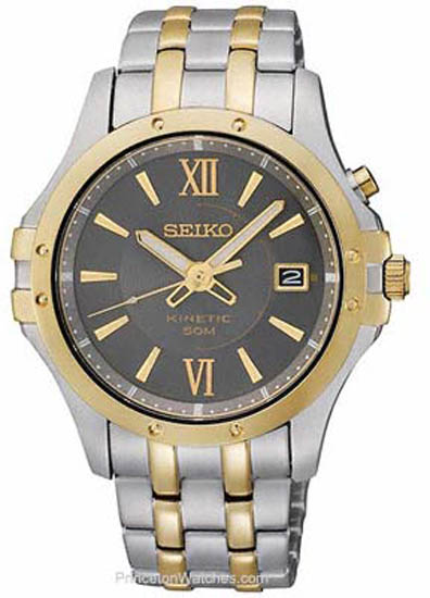 SEIKO KINETIC SKA550 GENTS STAINLESS STEEL CASE AUTOMATIC DATE WATCH