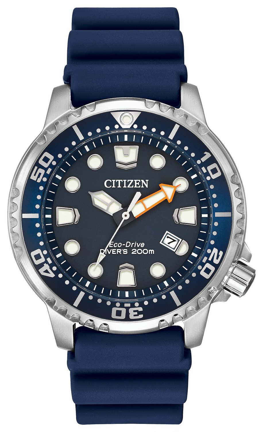 Citizen Watch Divers Men's Quartz Watch with Blue Dial Analogue Display and Blue PU Strap BN0151-09L