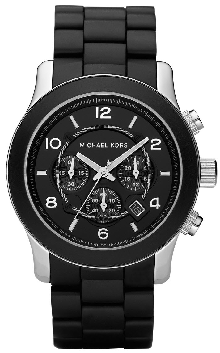 MK8107 Gents Michael Kors Black Rubber Bracelet