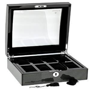 Carbon Fibre Watch Collectors Box for 8 watches by Tempus