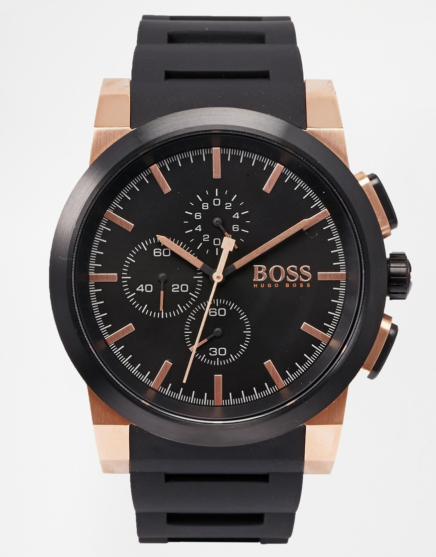 Hugo Boss Gents Watch Quartz Chronograph XL Neo 1513030 Silicone