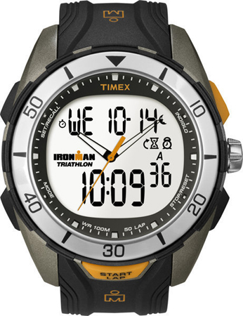Timex Men's Quartz Watch with LCD Dial Analogue - Digital Display and Black Resin Strap T5K402
