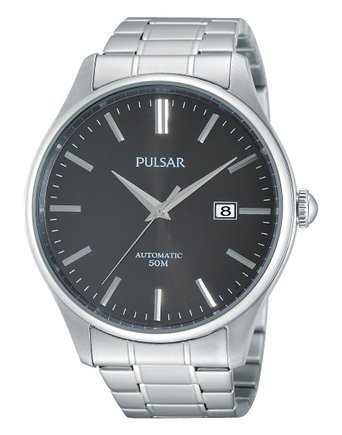 Pulsar Men's Watch XL Analogue Automatic Stainless Steel Classic PU4027 x 1