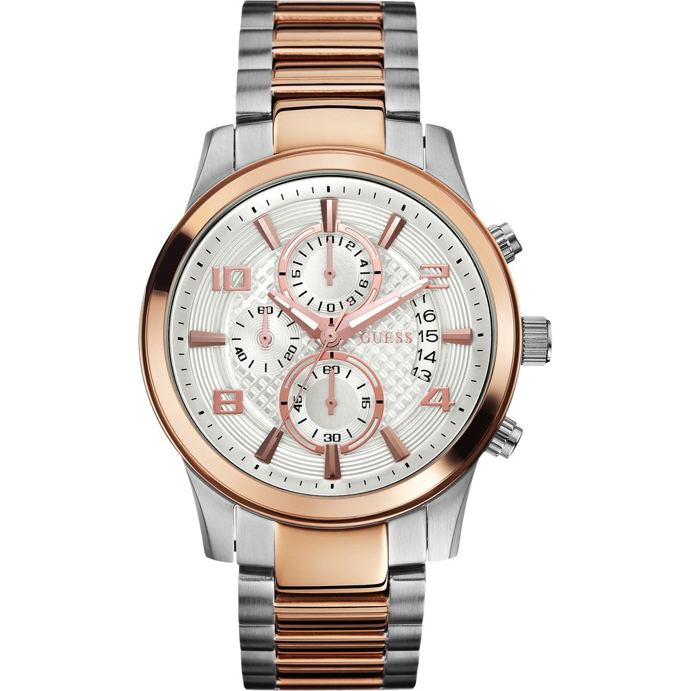 Guess Mens Gents W0075G2 Gents Two Tone Chronograph Watch