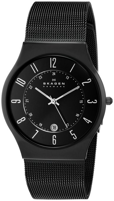 Skagen 233XLTMB Gents Watch with Black Mesh Bracelet