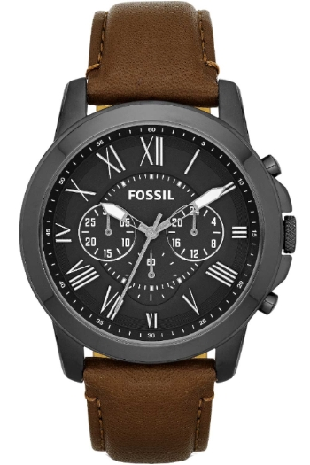 Fossil Gents Watch Chronograph XL Leather FS4885 Quartz