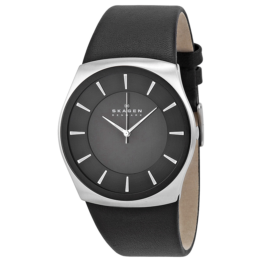 Skagen SKW6017-Men's Watch Analogue Quartz Black Leather Strap