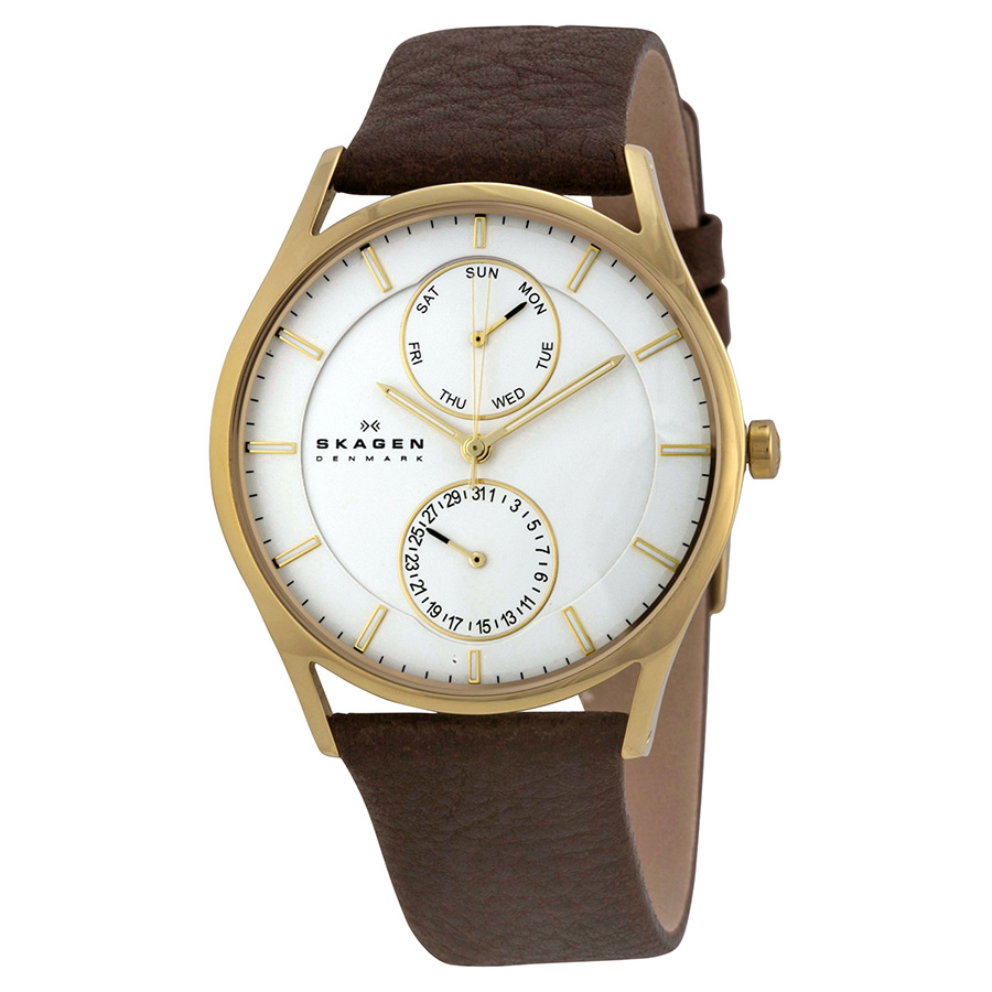 Skagen Men's Quartz Watch skw6066 SKW6066 with Leather Strap