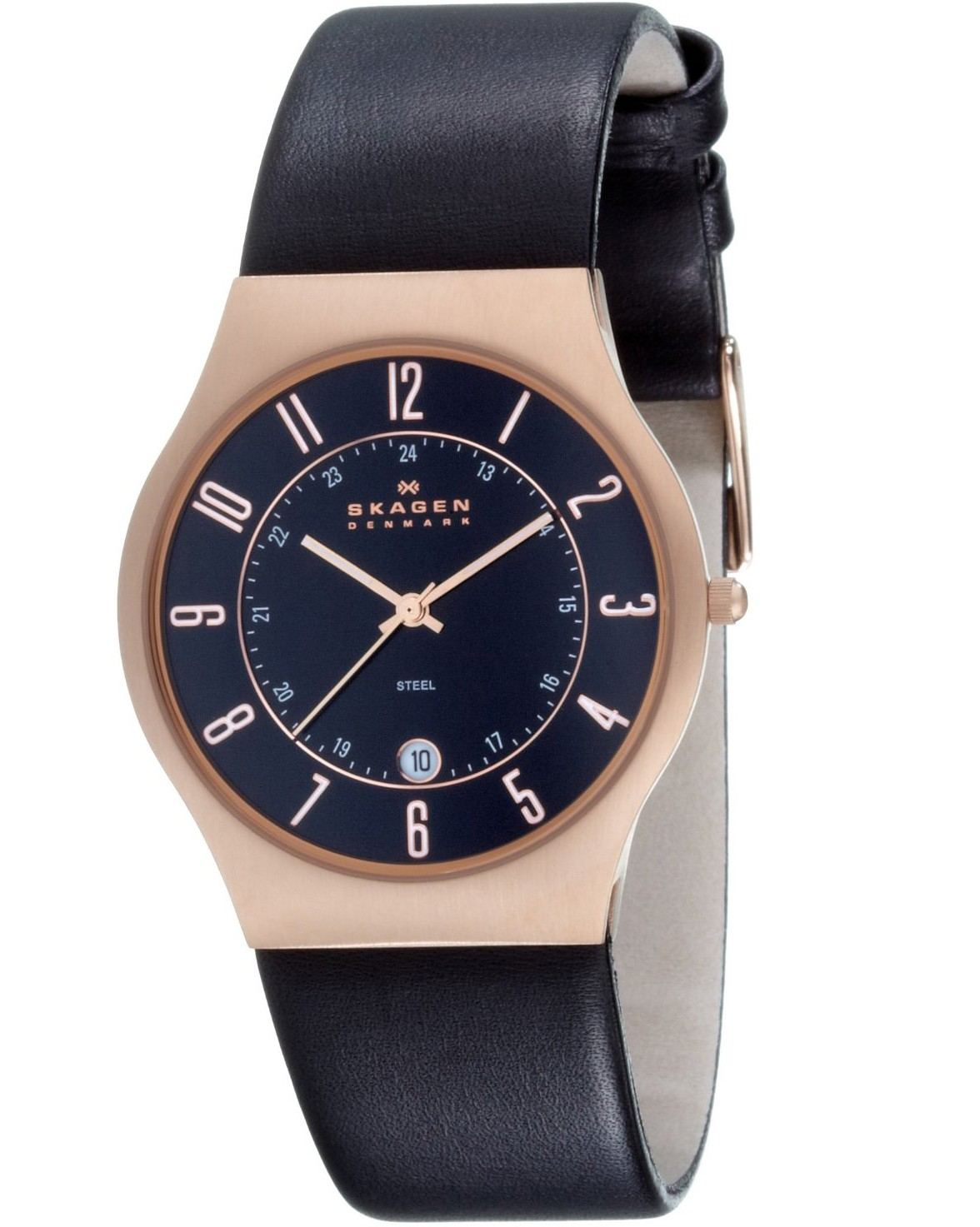Skagen Men's 233XXLRLB Denmark Classic Rose Gold Case Watch