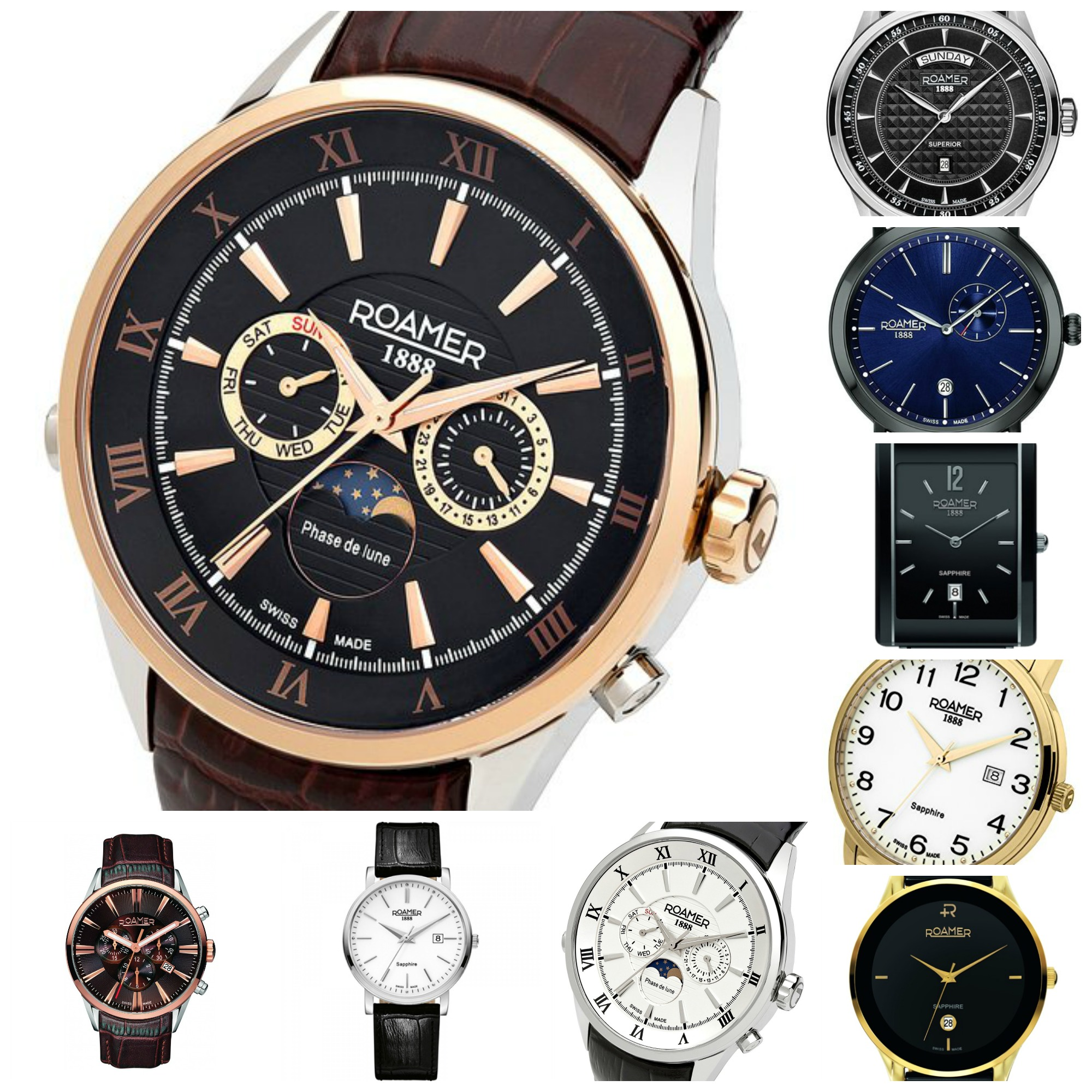 Top 10 Most Popular (Best Selling) Roamer of Switzerland Watches ...