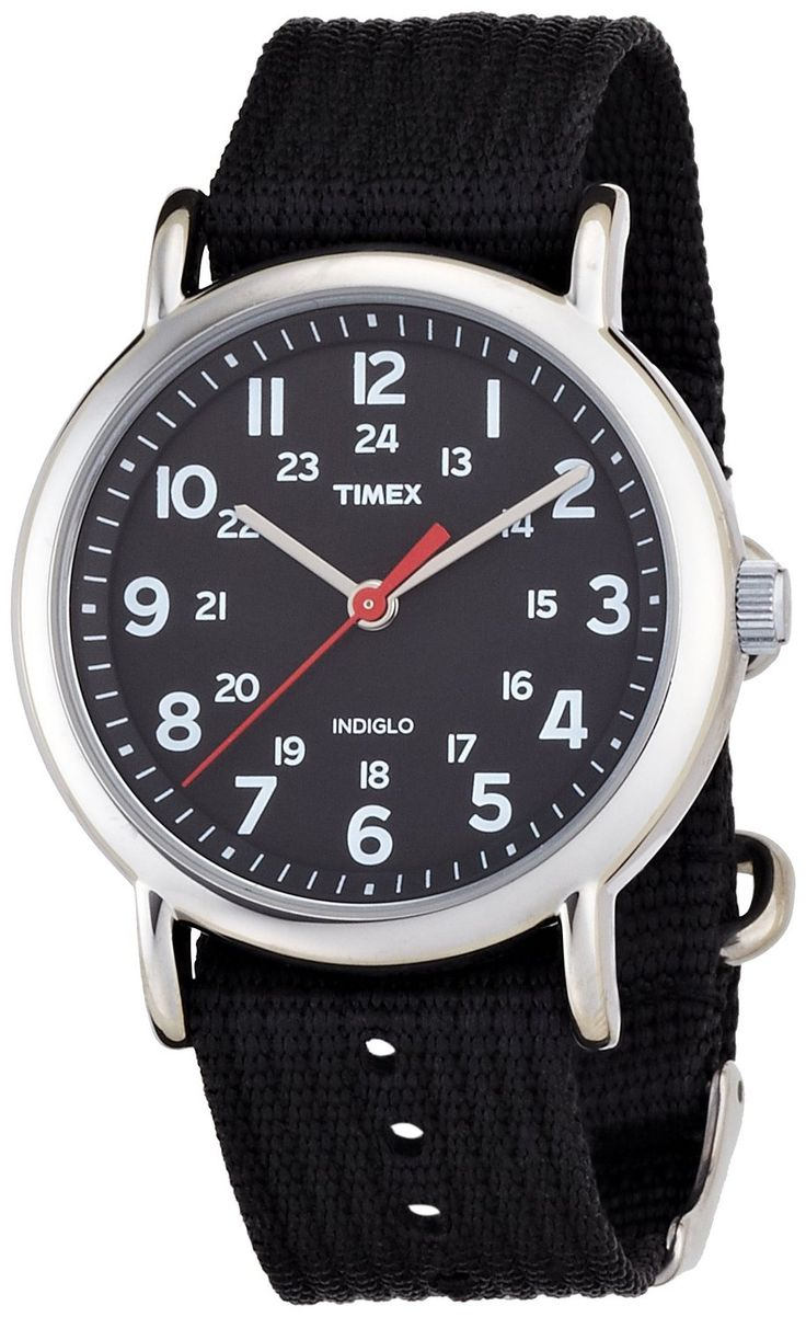 Timex Original Unisex Quartz Watch with Black Dial Analogue Display and Black Nylon Strap - T2N647PF