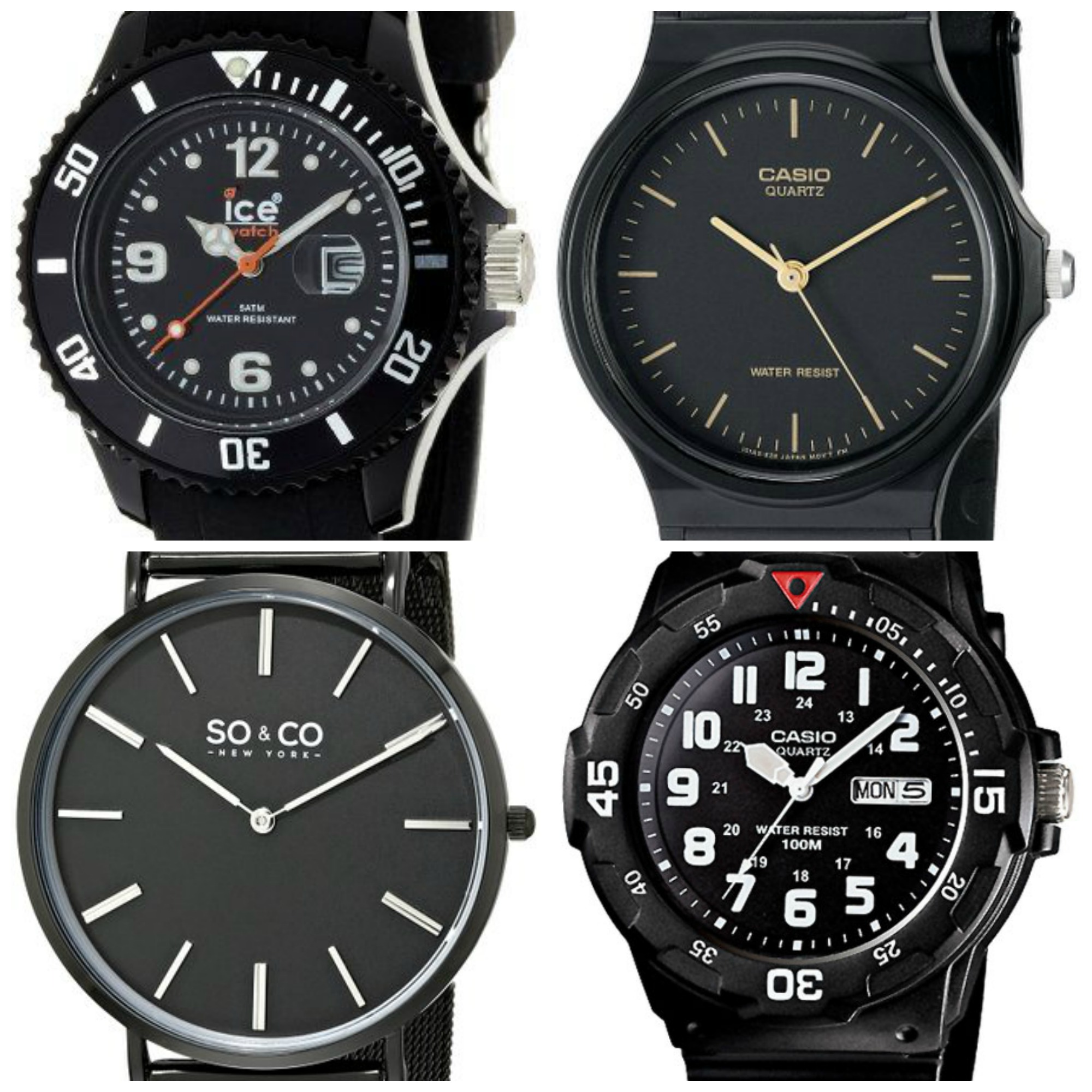 15 Best Cheap Black Watches Under 50 For Men The Watch Blog