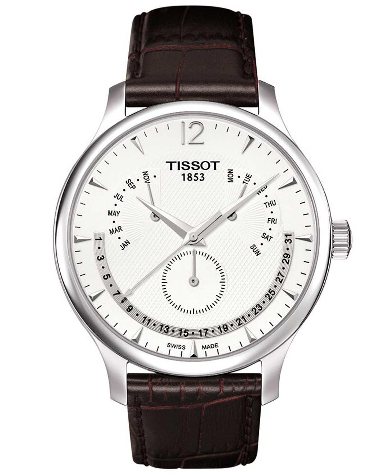 Tissot Large Dialled Tissot T-Classic with Flyback Perpetual Calendar complication T0636371603700