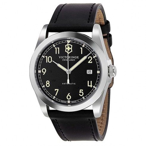 Victorinox Swiss Army Men's Automatic Watch Infantry Mechanical 241586 with Leather Strap