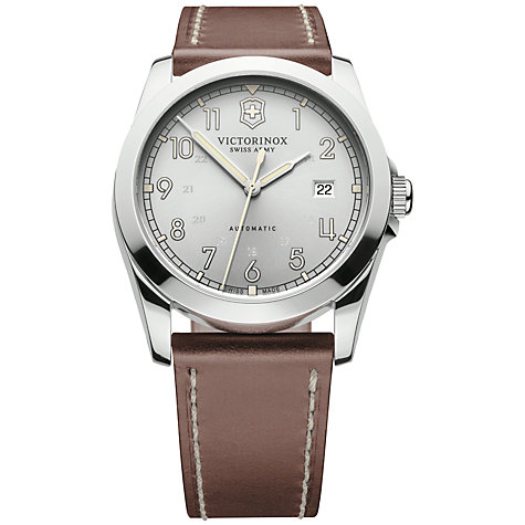 Victorinox Swiss Army Classic Men's Watch XL Analogue Automatic Leather 241566 Infantry