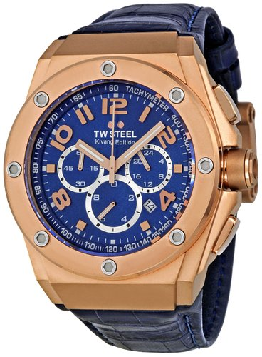 TW Steel Men's Quartz Watch CEO TECH TWCE4003 with Leather Strap