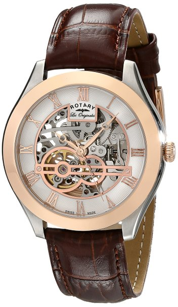 GS90511/21 Gents Rotary Stainless Steel and Rose Gold Plated Les Originales 'Jura' Watch