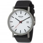 Boccia Men's Hypoallergenic Titanium Leather Strap Watch B3538-01 Review