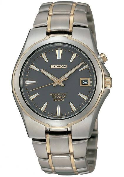 Seiko Mens Full Titanium Kinetic Watch SKA214P1