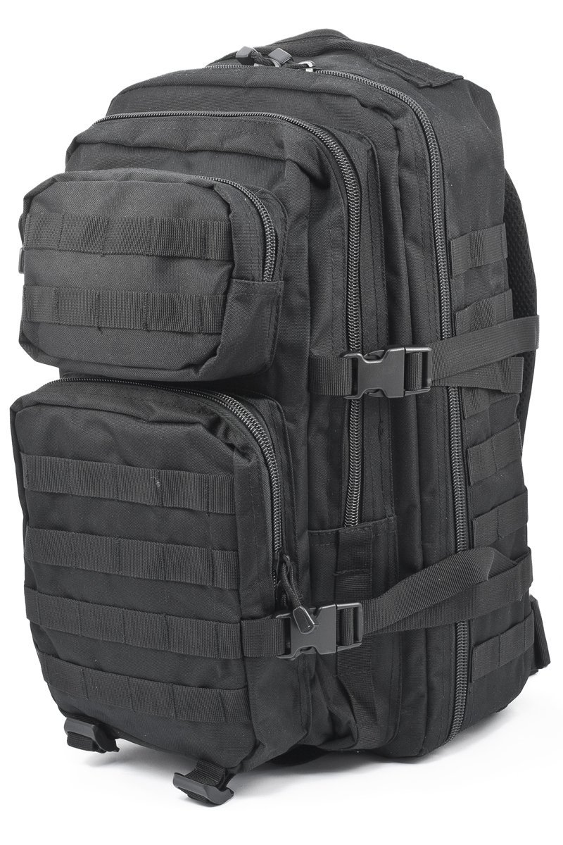 Mil-Tec Military Army Patrol MOLLE Assault Pack Tactical Combat Rucksack Backpack Bag 36L Black