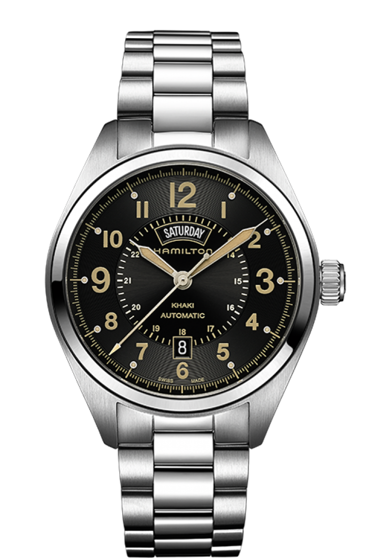 Hamilton H70505933 day date display watch