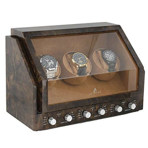 W137 DARK BURL triple watch winder