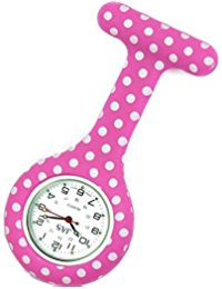 Pink bubble nurses watch Fashion Silicone Nurse Watch Durable Brooch Fob Medical Watch by Lizzy