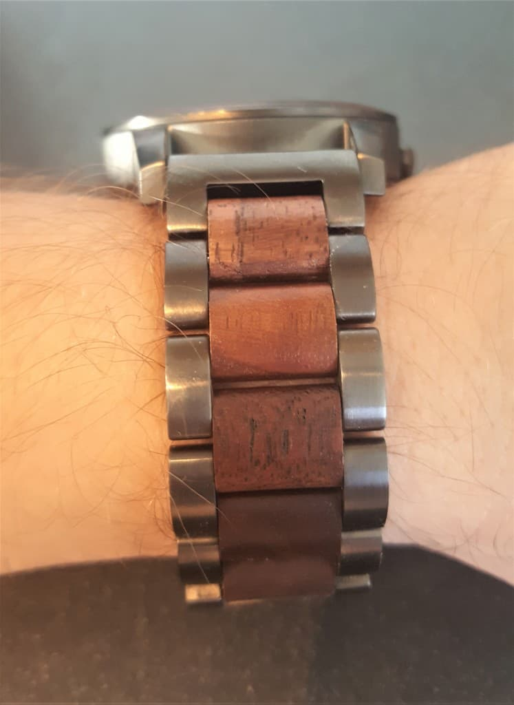 Holzkern Watch Strap with Wooden Links